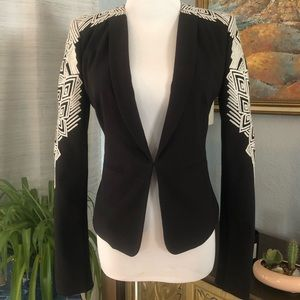 BCGBMaxazria blazer with embroidered sleeves
